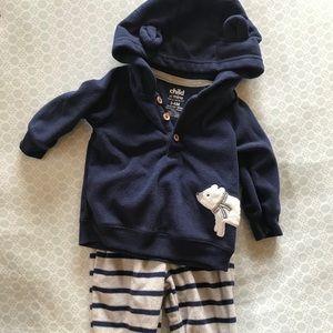 Baby Boy Fleece Outfit